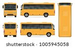 yellow bus vector mock up for... | Shutterstock .eps vector #1005945058
