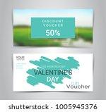 happy valentine's day  gift... | Shutterstock .eps vector #1005945376