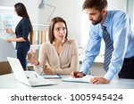 business people working with... | Shutterstock . vector #1005945424
