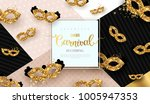 carnaval funfair card with... | Shutterstock .eps vector #1005947353
