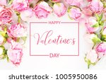 happy valentine day.flowers... | Shutterstock . vector #1005950086