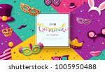 carnaval funfair card with... | Shutterstock .eps vector #1005950488