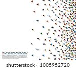 a crowd of people on a white... | Shutterstock .eps vector #1005952720