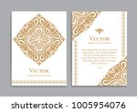gold vintage greeting card on a ... | Shutterstock .eps vector #1005954076