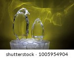 Transparent Glass Sculpture Of...