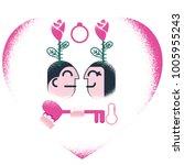 love for valentine's day | Shutterstock .eps vector #1005955243