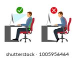 ergonomics   correct and...   Shutterstock .eps vector #1005956464