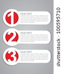 Vector One, Two, Three Labels - stock vector
