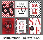 sale banner template design ... | Shutterstock .eps vector #1005958066