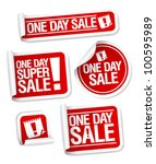 one day sale stickers set. | Shutterstock .eps vector #100595989