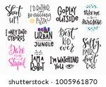 lettering overlay set.... | Shutterstock .eps vector #1005961870