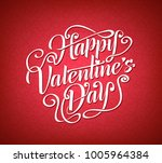 happy valentines day greeting... | Shutterstock .eps vector #1005964384