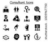 consultant   expert icon set  | Shutterstock .eps vector #1005967750