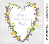 vector card for valentine's day.... | Shutterstock .eps vector #1005968440