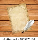 old vintage worn papyrus blank... | Shutterstock .eps vector #1005976168