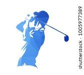 golf player  abstract blue... | Shutterstock .eps vector #1005977389