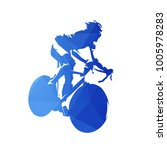 cycling logo  abstract blue... | Shutterstock .eps vector #1005978283