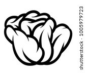 flower rose  black and white.... | Shutterstock .eps vector #1005979723
