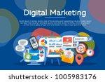 digital marketing concept.... | Shutterstock .eps vector #1005983176