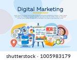 business analysis. digital...   Shutterstock .eps vector #1005983179
