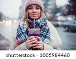 young women on city street... | Shutterstock . vector #1005984460