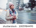 young women on city street... | Shutterstock . vector #1005984490