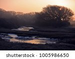 beautiful icy morning newtown... | Shutterstock . vector #1005986650