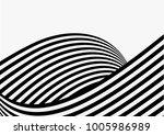 vector overlapping wave strips... | Shutterstock .eps vector #1005986989