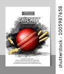 cricket championship batsman... | Shutterstock .eps vector #1005987658