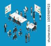 meeting room presentation team... | Shutterstock .eps vector #1005989923