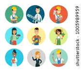 flat style professional people... | Shutterstock .eps vector #1005989959
