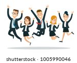 flat style happy business... | Shutterstock .eps vector #1005990046