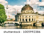 Bode Museum Island, Bodemuseum, Museumsinsel and TV Tower on Ale