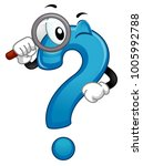 illustration of a question mark ... | Shutterstock .eps vector #1005992788