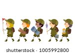 illustration of stickman boy... | Shutterstock .eps vector #1005992800