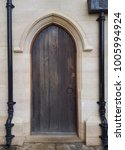 A Side Door To A Church With...