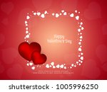 abstract happy valentine's day... | Shutterstock .eps vector #1005996250