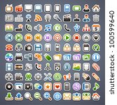100 sticker icons | Shutterstock .eps vector #100599640