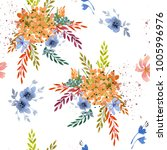 seamless spring pattern on a... | Shutterstock . vector #1005996976