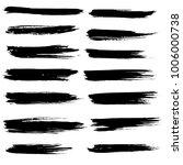 grunge ink brush strokes set....   Shutterstock .eps vector #1006000738