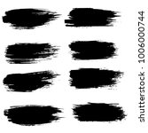 grunge ink brush strokes set.... | Shutterstock .eps vector #1006000744