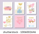 set of beautiful greeting cards ...   Shutterstock .eps vector #1006002646
