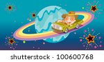 driving around the world   eps... | Shutterstock . vector #100600768