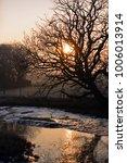 icy newtown creek in winter.... | Shutterstock . vector #1006013914