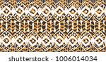ikat seamless pattern. vector... | Shutterstock .eps vector #1006014034