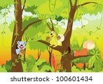 squirrels in the jungle   eps... | Shutterstock . vector #100601434