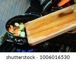 preparing dinner   homemade...   Shutterstock . vector #1006016530