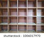 soft focus wooden shelves is... | Shutterstock . vector #1006017970