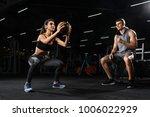 woman doing jump exercises in... | Shutterstock . vector #1006022929