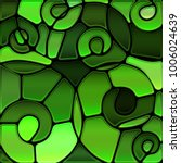 abstract vector stained glass... | Shutterstock .eps vector #1006024639